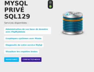 sql129.ispfr.net screenshot