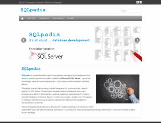 sqlpedia.pl screenshot