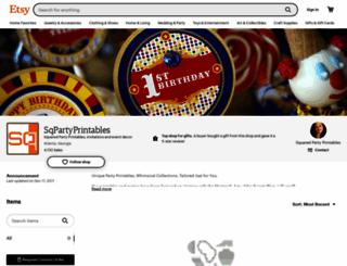 squaredpartyprintables.com screenshot
