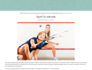 squash-club.com.pl screenshot