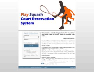 squashcentermrhc.tennisbookings.com screenshot