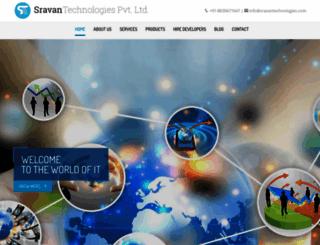 sravantechnologies.com screenshot