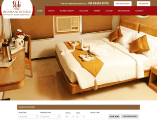 sribharanihotels.com screenshot