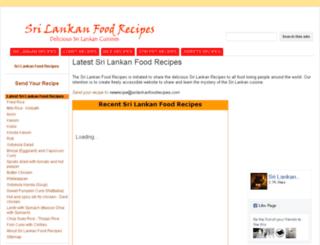 srilankanfoodrecipes.com screenshot