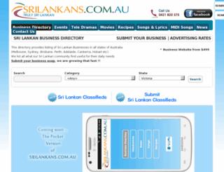 srilankans.com.au screenshot
