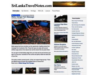 srilankatravelnotes.com screenshot
