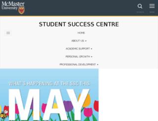 sscareers.mcmaster.ca screenshot