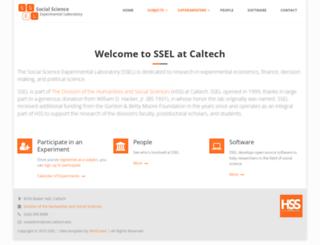 ssel.caltech.edu screenshot