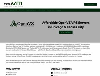 sshvm.com screenshot