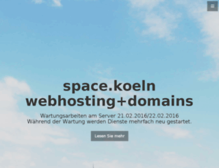 ssl.spacekoeln.de screenshot
