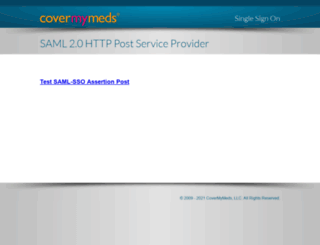 sso.covermymeds.com screenshot