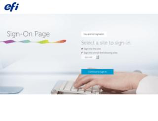 sso.efi.com screenshot