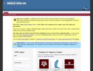 sso.tamus.edu screenshot