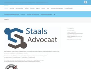 staalsadvocaten.nl screenshot