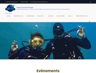 stadelaurentinplongee.org screenshot