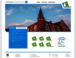 stadt-diepholz.de screenshot