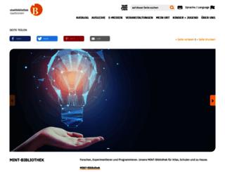 stadtbibliothek.saarbruecken.de screenshot