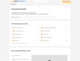 stadtbranchenbuch-koeln.de screenshot