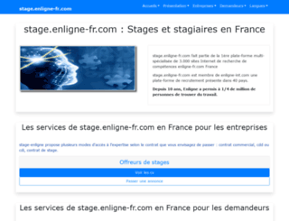 stage.enligne-fr.com screenshot