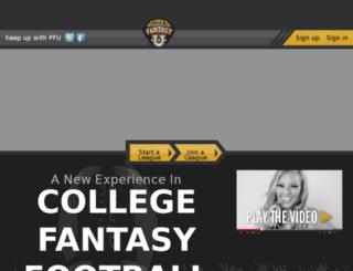 stage.pigskinfantasyu.com screenshot