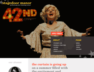stagedoormanor.com screenshot