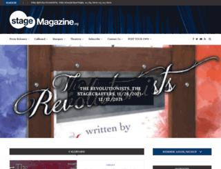 stagemagazine.org screenshot