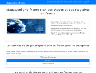 stages.enligne-fr.com screenshot