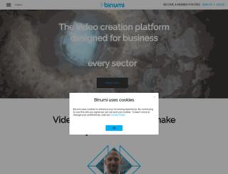 staging.binumi.com screenshot