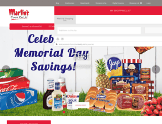 staging.martins-supermarkets.com screenshot