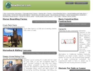 staging.newhorse.com screenshot