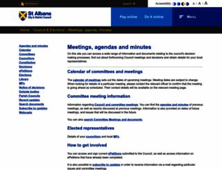 stalbans.moderngov.co.uk screenshot