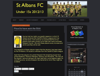 stalbansfc.wordpress.com screenshot