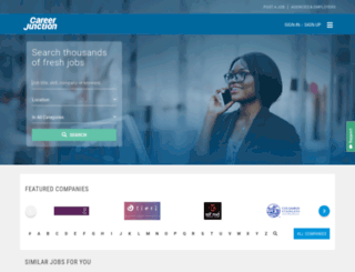 standardbank.careerjunction.co.za screenshot