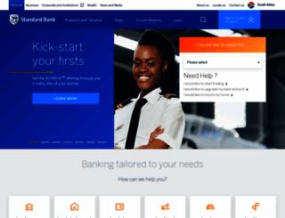 standardbank.co.za screenshot