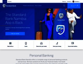 standardbank.com.na screenshot