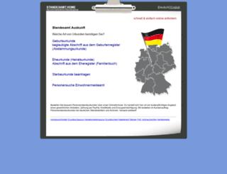 standesamtauskunft.de screenshot