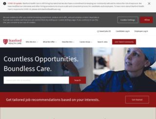 stanfordhealthcarecareers.com screenshot