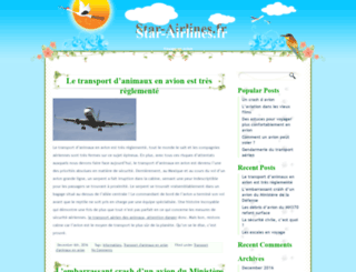 star-airlines.fr screenshot