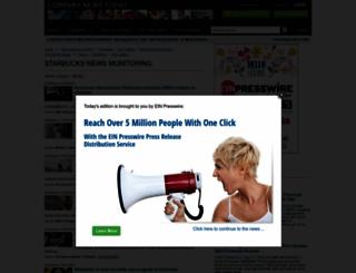 starbucks.einnews.com screenshot