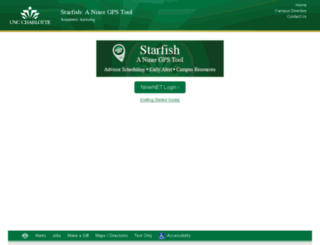 starfish.uncc.edu screenshot