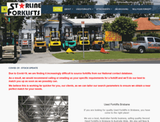 starlineforklifts.com.au screenshot