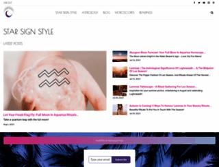 starsignstyle.com screenshot