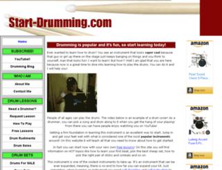 start-drumming.com screenshot