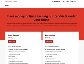 startahostingcompany.com screenshot