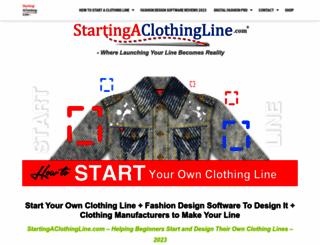 startingaclothingline.com screenshot