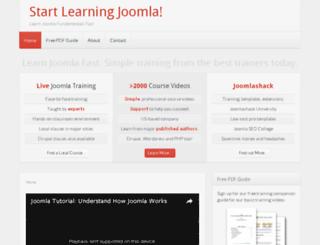 startlearningjoomla.com screenshot