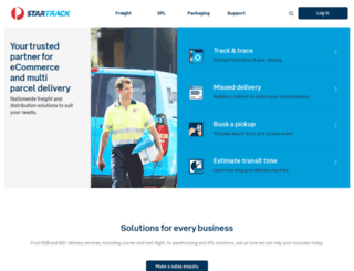 startrack.com.au screenshot