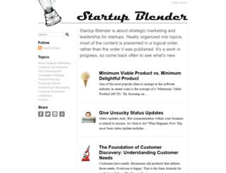 startupblender.com screenshot