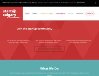 startupcalgary.ca screenshot
