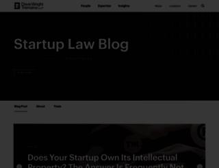 startuplawblog.com screenshot